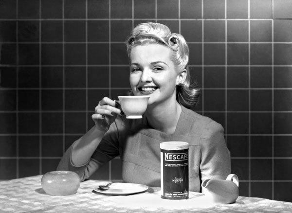 Изобретеник растворимого кофе