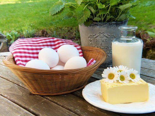Яйцо, молоко, масло
