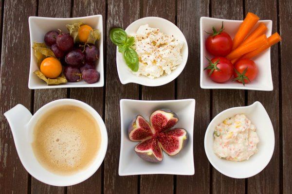 Рис, овощи, фрукты
