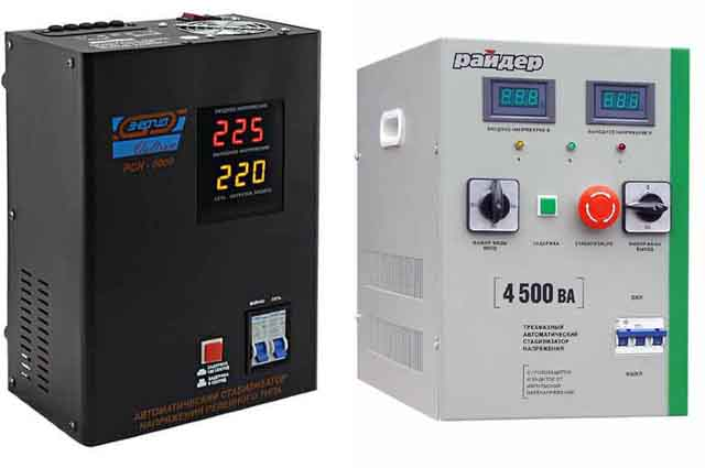 Стабилизатор напряжения однофазный или 3-х фазный