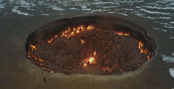 Газовый кратер Дарваза-газовое поле