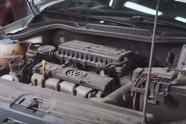 Двигатель старый Polo