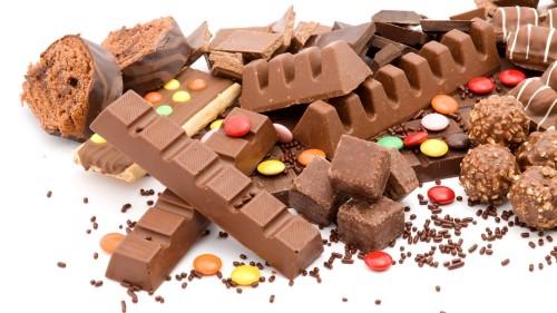 Шоколадные конфеты, батончики и леденцы