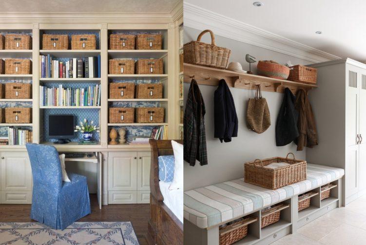 Плетеные корзинки в дизайне интерьера